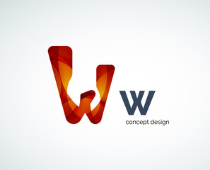 Abstract letter logo design