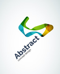 Abstract shape logo design