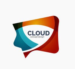 Modern cloud logo