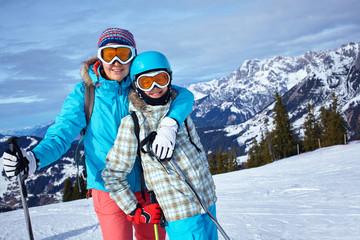 Ski, winter, sun and fun