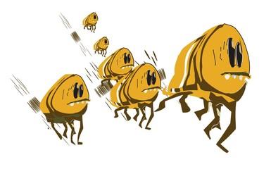 Fleas on the run