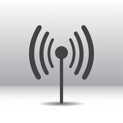 Wi fi-radio icon gray, eps10
