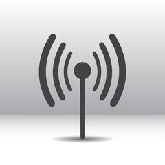 Wi fi-radio icon gray, eps10
