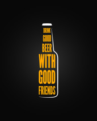 beer bottle design background