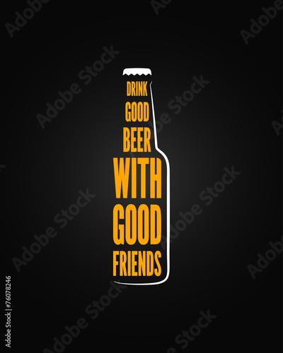 beer bottle design background - 76078246
