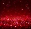 valentine background with blur hearts - 76078433