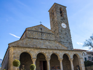 The Pieve church of San Pietro a Cascia, Tuscan, Italy