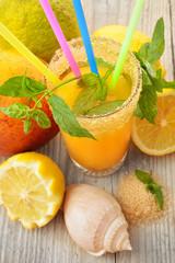 succo di mango limone e menta