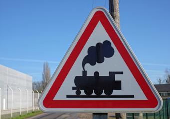 Signalisation d'une traversée de voie ferrée