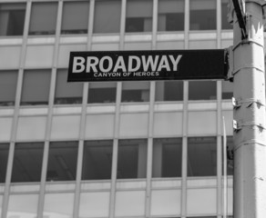 Broadway street sign Manhattan New York USA