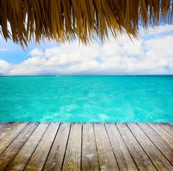 art Blue sea and blue sky
