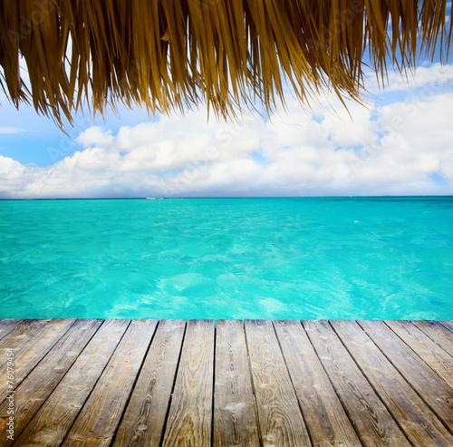 mata magnetyczna Art Blue morza i błękitne niebo