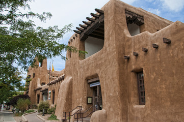 The Musuem of Art in Creative City of Santa Fe In New Mexico USA