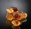 Brown caramelized sugar