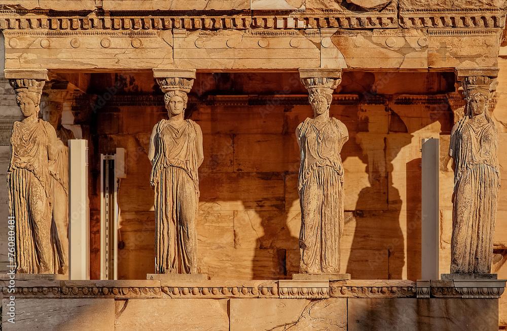 fotobehang caryatides acropolis of athens greece foto4art. Black Bedroom Furniture Sets. Home Design Ideas