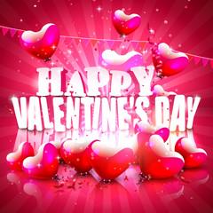 Modern Valentine's Day greeting card