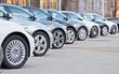 Leinwanddruck Bild - Autos stehen zum Verkauf