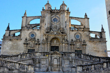 Portada principal de la catedral de Jerez de la Frontera, Cádiz