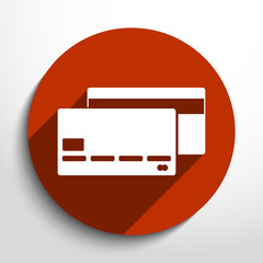 Vector bank card web flat icon.