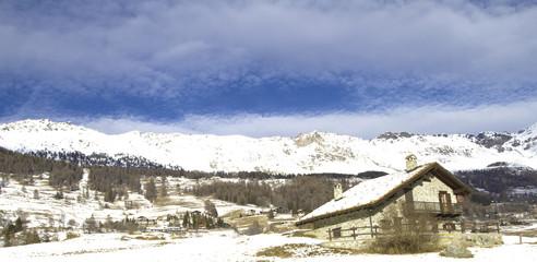 refuge on Alps