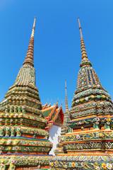 Chedis am Wat Pho in Bangkok, Thailand