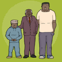 Three Shocked Relatives