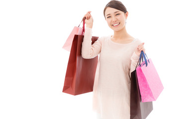 young asian woman shopping image
