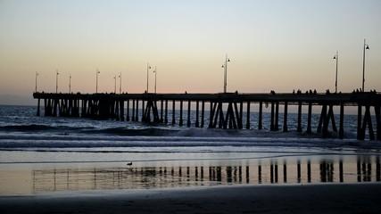 Venice Beach Pier at sunset