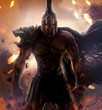 Angry spartan warrior