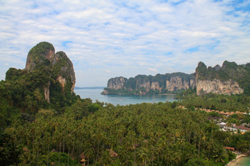 View on the Railay peninsula from the rock