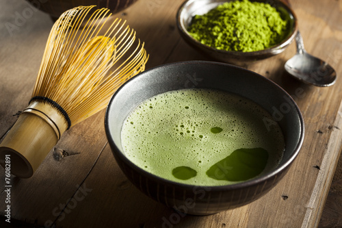 Papiers peints Salle de cafe Organic Green Matcha Tea