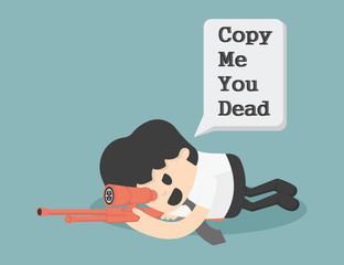 Warning Copy Illustration Cartoons concepts