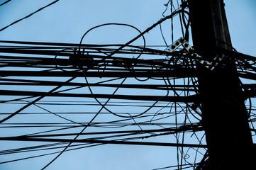 Dangerous Electricity Cables Pylon