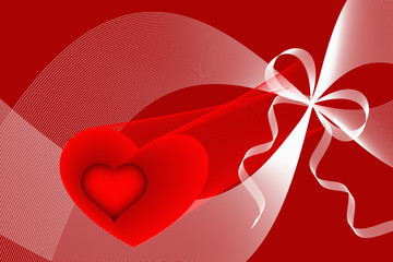Hearts, curves and ribbons