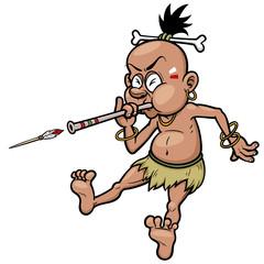 Vector Illustration of Tribal Warrior