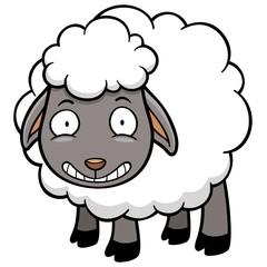 Vector illustration of a cartoon sheep