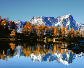 Mont Blanc im Herbst