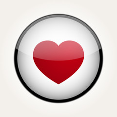 Vector Love Heart Circle Design