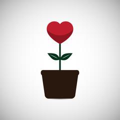 Vector Love Heart Flower