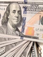 Pattern of one hundred dollar bills