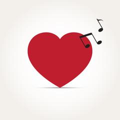 Vector Love Heart Music Rhythm