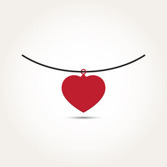Vector Love Heart Necklace
