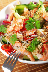Asian salad with noodles