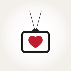 Vector Love Heart Television
