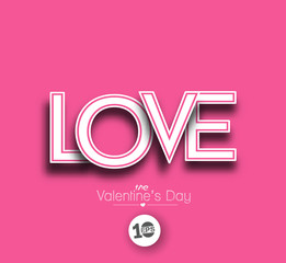 Love text made of  3d vector design element.