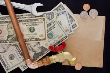 Expenses for repair waterpipe