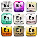 A periodic table showing Einsteinium