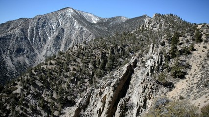 Mountain Driving in the Eastern Sierra Nevada Mountains