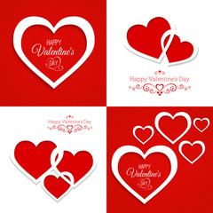 set of greeting cards Happy Valentine's Day