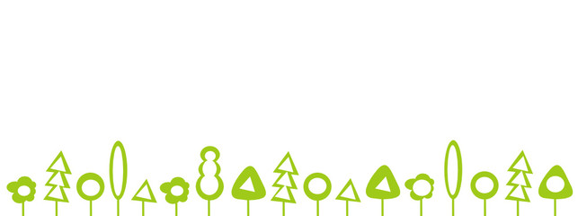 Wald Bäume Banner
